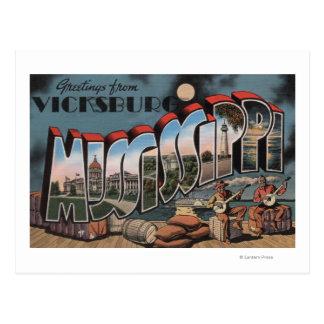 Vicksburg, Mississippi - Large Letter Scenes Postcard