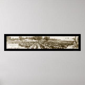 Vicksburg, MS Memorial Photo 1917 Poster