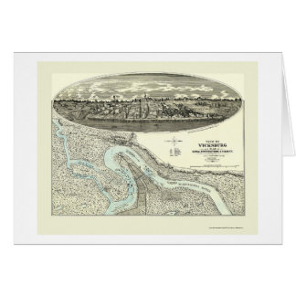 Vicksburg, MS Panoramic Map - 1863 Card