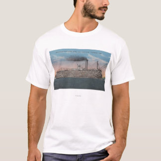 Vicksburg, MS - View of Boat with Cotton Onboard T-Shirt