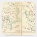 Vicksburg, puente negro grande de Jackson, río Calcomanía Cuadradas Personalizada