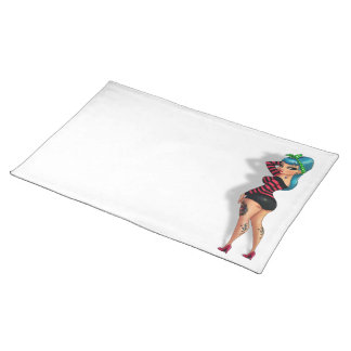 Vicky Licious - Voluptuous Pinup Model Cloth Placemat