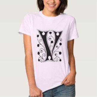 Vicky   -  V  Monogram Tee Shirt
