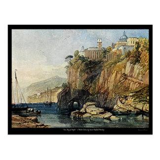 ¡Vico, bahía de la postal de la pintura de la