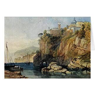 Vico, bahía de Nápoles - tarjeta de la pintura de