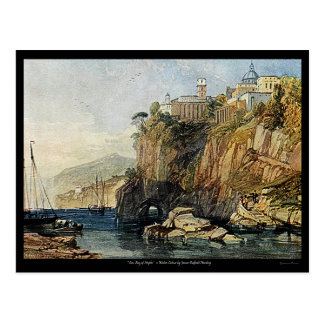 Vico, Bay of Naples Watercolor Painting Postcard! Postcard