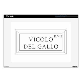 Vicolo del Gallo, Rome Street Sign Laptop Decals