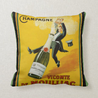 Vicomte de Moulliac Champagne Pillow