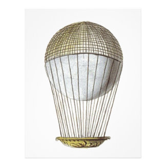 Vicotorian Hot Air Balloon Personalized Letterhead