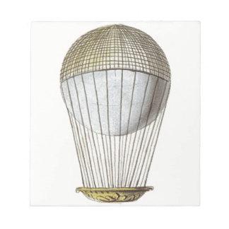 Vicotorian Hot Air Balloon Note Pad