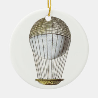 Vicotorian Hot Air Balloon Christmas Ornament
