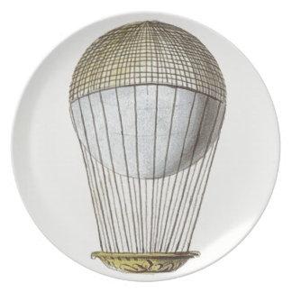 Vicotorian Hot Air Balloon Party Plate