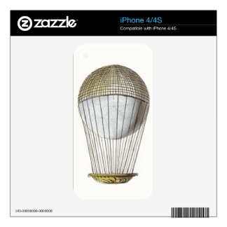Vicotorian Hot Air Balloon Skin For iPhone 4