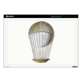 """Vicotorian Hot Air Balloon Decal For 17"""" Laptop"""