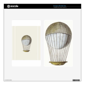 Vicotorian Hot Air Balloon Decals For Kindle Fire