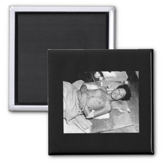 Victim of the Atom Bomb Explosion over_War Image Magnet
