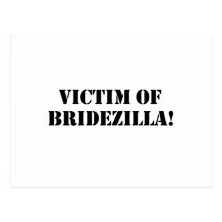 Víctima del negro de Bridezilla Postales