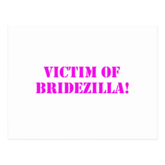 Víctima del rosa de Bridezilla Postal