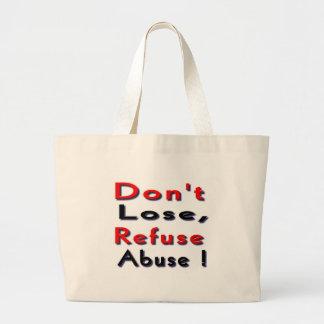 víctimas del abuso bolsa de mano