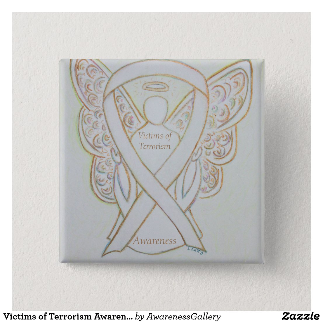 Victims of Terrorism Awareness White Ribbon Pin