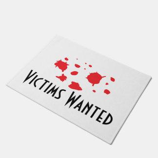 """Victims Wanted"" Doormat"