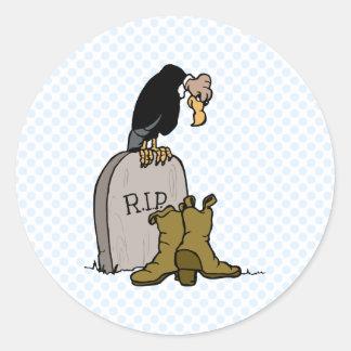 Victimus Vulture Round Stickers