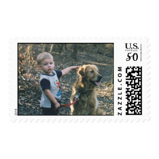 Victor and Cassie in the woods Postage