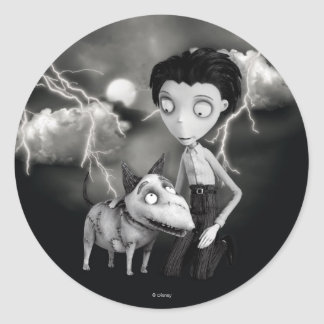 Victor and Sparky Classic Round Sticker