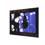 Victor Bicycles Overman Wheel Promo Poster Gallery Wrap Canvas