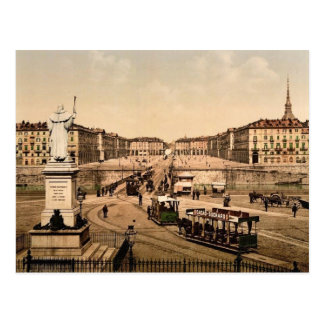Victor Emmanuel Place, Turin, Italy classic Photoc Postcard