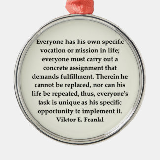 victor frankl quote christmas ornament