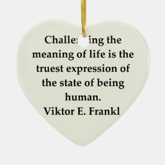 victor frankl quote christmas tree ornament