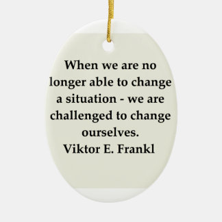 victor frankl quote christmas tree ornaments