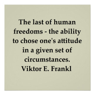 victor frankl quote poster
