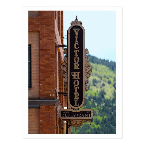 Victor Hotel, Colorado Postcard