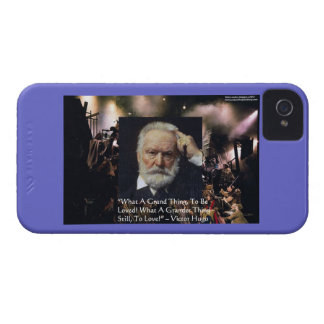 """Victor Hugo """"Accomplishment"""" Quote & Les Miserable iPhone 4 Case-Mate Cases"""