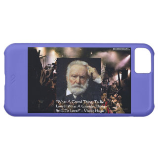 """Victor Hugo """"Accomplishment"""" Quote & Les Miserable iPhone 5C Cover"""