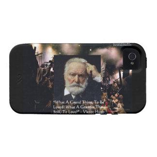 "Victor Hugo ""Accomplishment"" Quote & Les Miserable Vibe iPhone 4 Case"