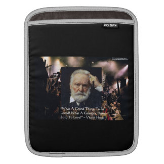 "Victor Hugo ""Accomplishment"" Quote & Les Miserable Sleeve For iPads"
