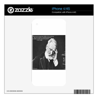 Victor Hugo & Happiness Quote Gifts Tees Etc iPhone 4S Decals