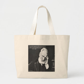 Victor Hugo & Happiness Quote Gifts Tees Etc Large Tote Bag
