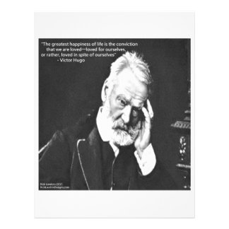 Victor Hugo & Happiness Quote Gifts Tees Etc Letterhead