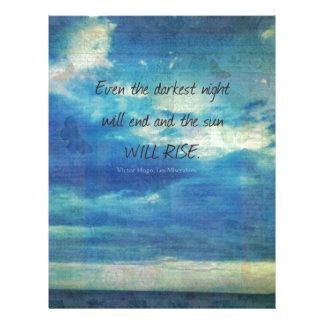 Victor Hugo, Les Miserables quote  inspirational Letterhead