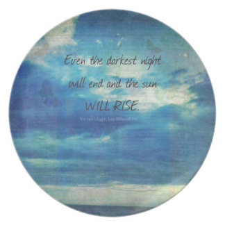Victor Hugo, Les Miserables quote  inspirational Plate