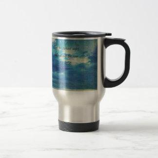 Victor Hugo, Les Miserables quote  inspirational Travel Mug