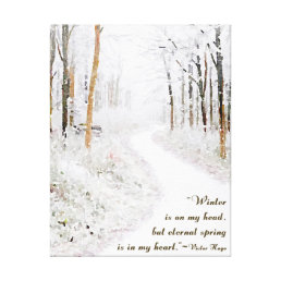 Victor Hugo on Winter Canvas Print