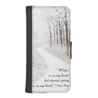 Victor Hugo on Winter iPhone 5 Wallet Case