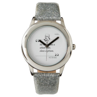 Victor Hugo Open A School Famous Quote Watch