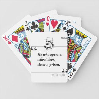 Victor Hugo Open School Door Quote Bicycle Playing Cards