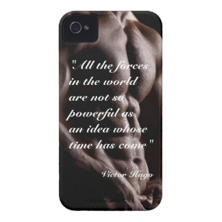 Victor Hugo powerful quote body background iPhone 4 Case-Mate Case